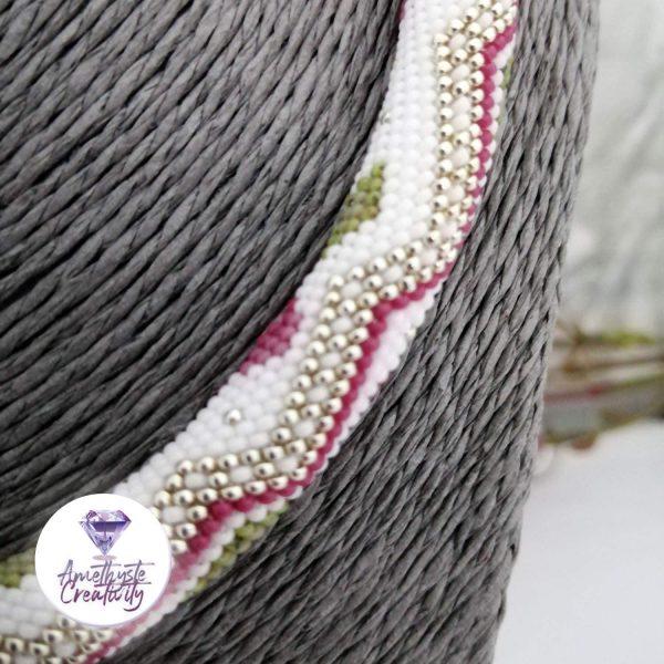 ❁ Collier « Telia » Crocheté en Spirales avec Perles Miyukis 15/0